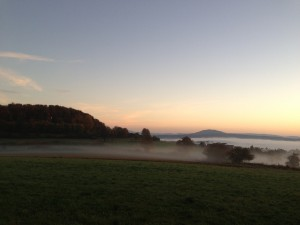 Sonnenaufgang in der Rhön