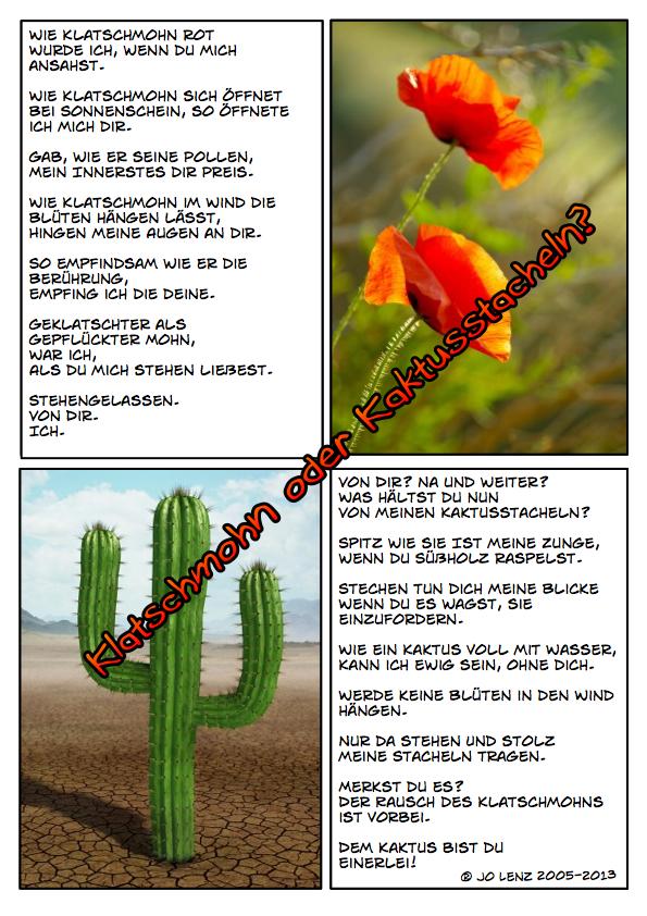 WOP - Klatschmohn oder Kaktusstacheln